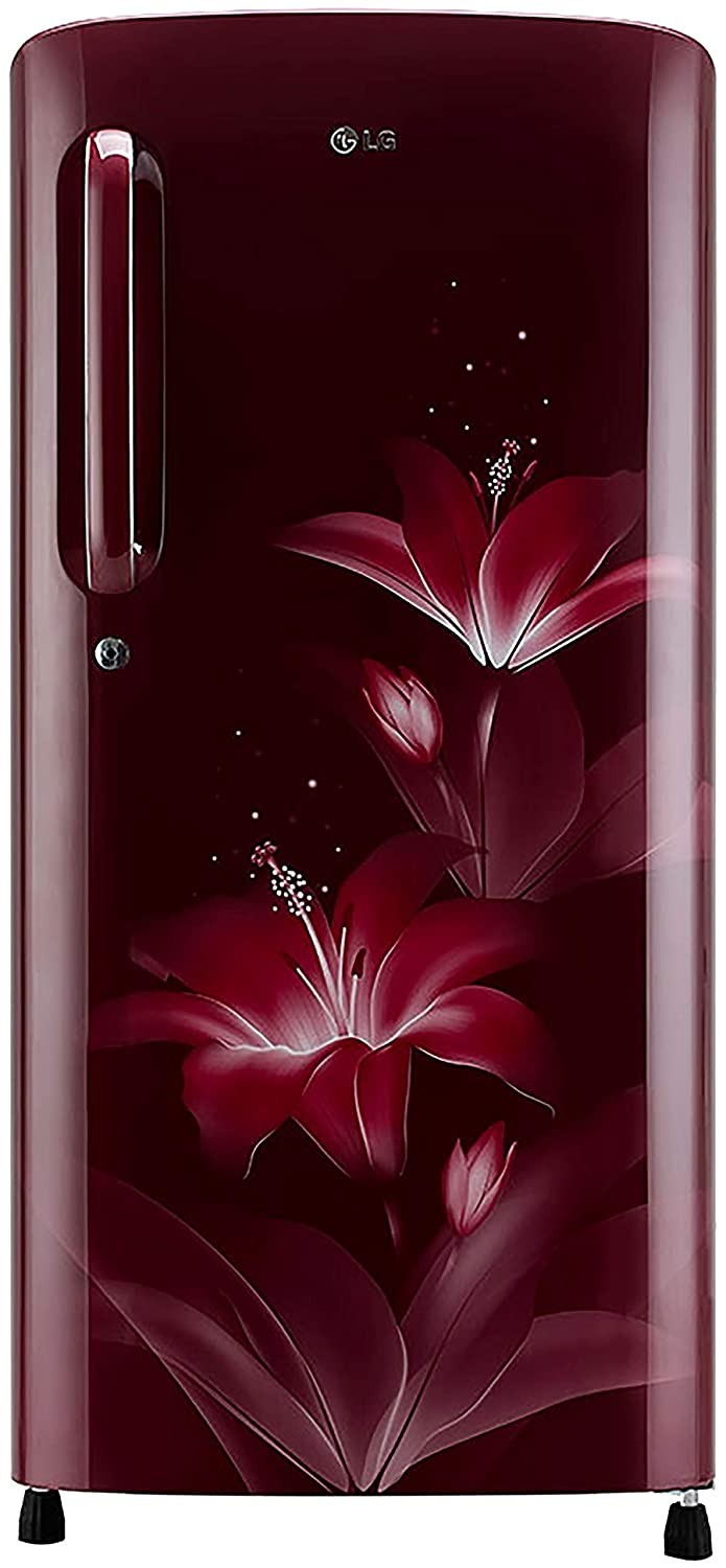 LG 190 L 3 Star Direct Cool Single Door Refrigerator(GL-B201ARGX.ARGZEBN, Ruby Glow,Smart Inverter Compressor)