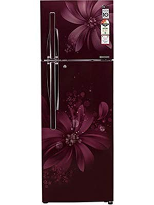 LG 308 L 3 Star Frost Free Double Door Refrigerator (GL-C322RSAU, Scarlet Aster)
