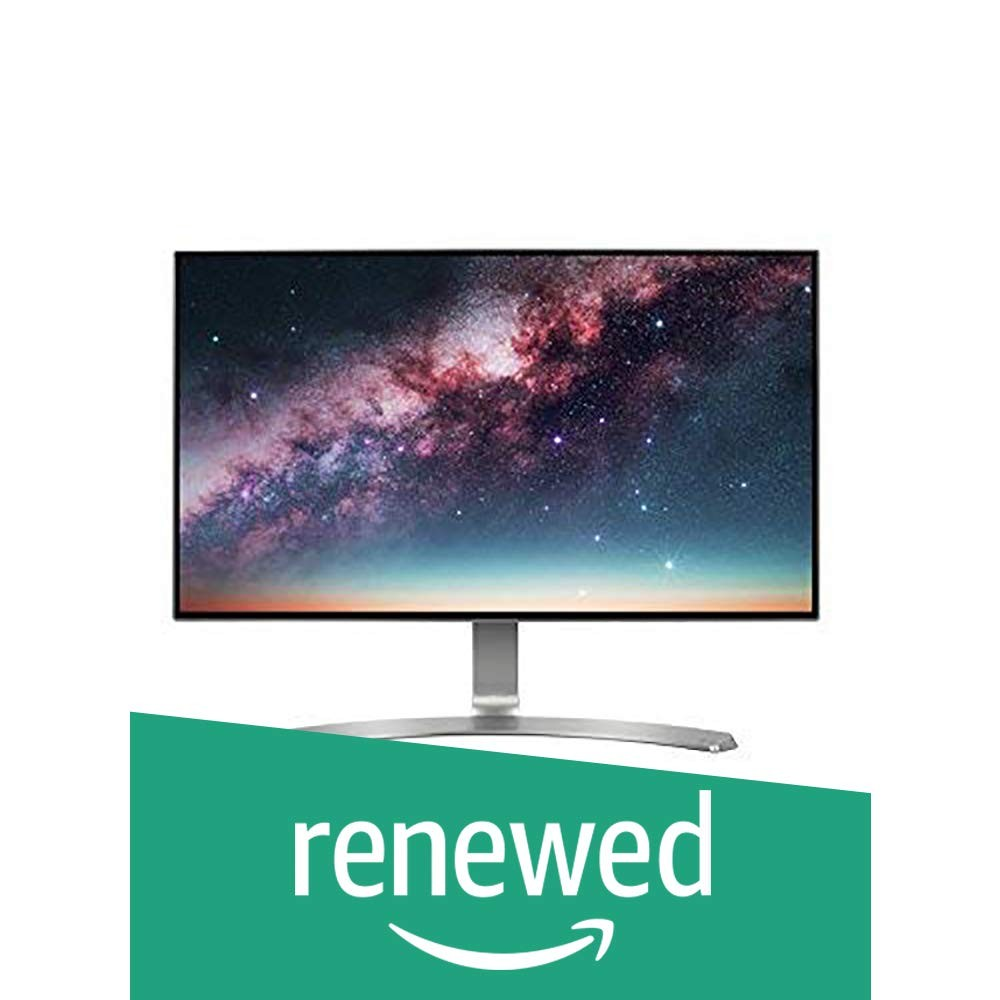 (Renewed) LG 23.8 inch Borderless LED Monitor - Full HD, IPS Panel with VGA, HDMI, Audio in/Out Ports and in-Built Speakers - 24MP88HV (Silver/White)