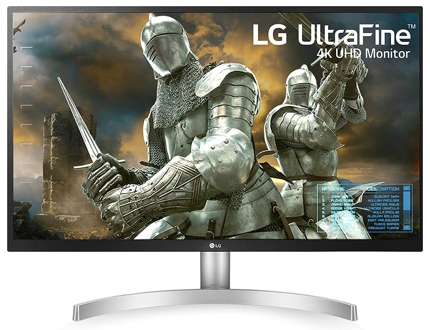 LG 27 inch 4K-UHD (3840 x 2160) HDR 10 Monitor (Gaming & Design) with IPS Panel, HDMI x 2, Display Port, AMD Freesync  - 27UL500 (Silver Stand with...