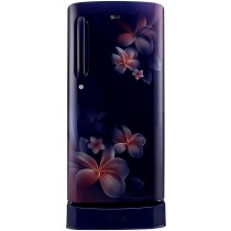 LG 190 L 4 Star Inverter Direct-Cool Single Door Refrigerator (GL-D201ABPY, Blue Plumeria)