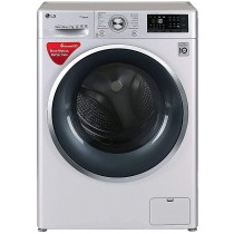 LG 7 kg Inverter Fully-Automatic Front Loading Washing Machine (FHT1207SWL.ALSPEIL, Silver, Inbuilt Heater)