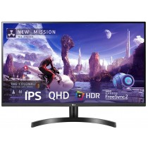 LG QHD (2560 x 1440) 27 Inch IPS Display 3 Side Borderless - HDR 10, sRGB 99%, AMD Free sync - Dual HDMI, Display Port - 27QN600
