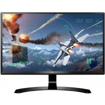 LG 24 inch (60.45 cm) Gaming 4K UHD LED Monitor - 4K UHD, IPS Panel with HDMI, Display, Audio Out, Heaphone Ports - 24UD58 (Black)V