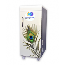 Global Atta makerdomestic Flour mill Deluxe (atta chakki) White Peacock Feather