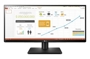 LG 29 inch 21:9 Ultrawide Monitor - Full HD, IPS Panel with HDMI, DVI, Display, USB, Audio Out, Heaphone Ports and in-Built Speakers - 29UB67 (Black)